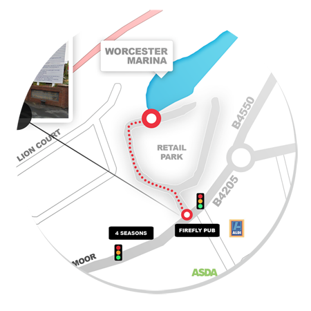 Worcester Marina Directions